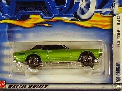 Mattel Hot Wheels 2002 1:64 Scale Green 1968 Cougar Die Cast Car #029 - 1