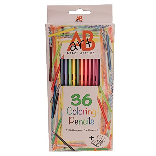 36-Coloring-Pencils-for-Adults-Kids-with-Pencil-Sharpener-Soft-Pastel-Colored-7-Inch-Long-Basswood-with-Hexagonal-Shape-for-Easy-Grip-Comes-Pre-Sharpened-in-Convenient-Holding-Tray
