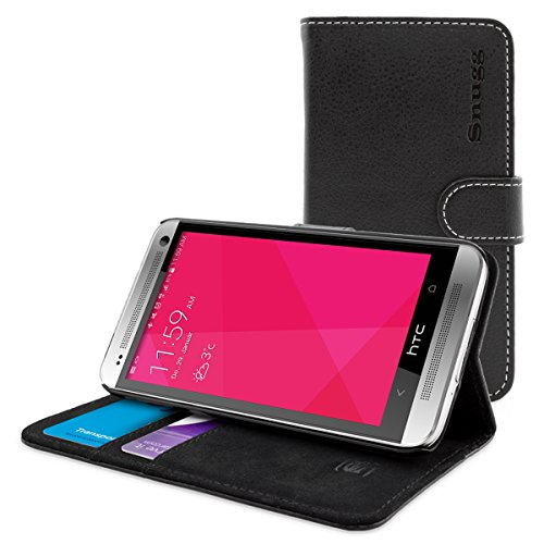 Snugg HTC One E8 Case – Leather Flip Case with Lifetime Guarantee (Black) for HTC One E8