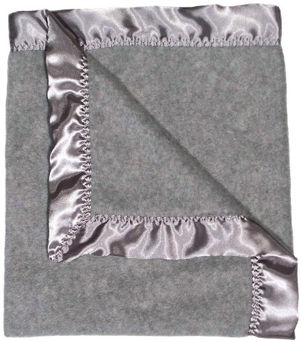 Raindrops Fleece Unisex Receiving Blanket, Gray Heather