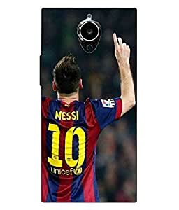Snazzy Messi Printed Colorful Hard Back Cover For Gionee Elife E7