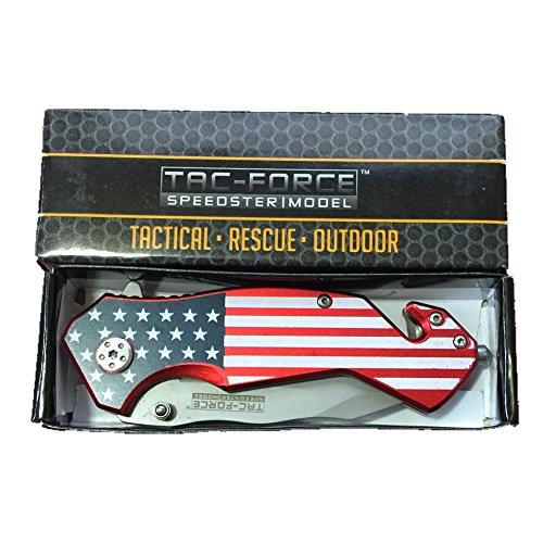 Tac-force Speedster Model U.S National Flag Blade Folding Knife, New in Box. Top Quality.