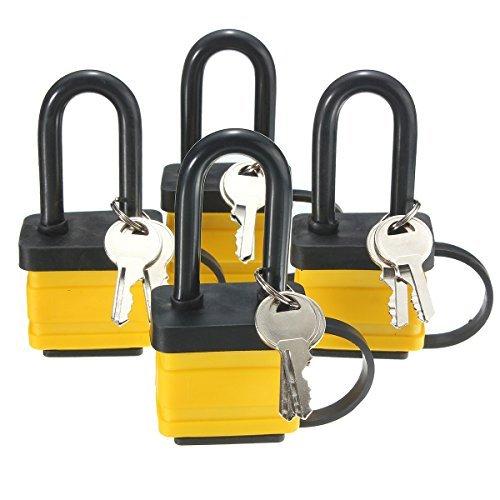 insma-4-x-long-shackle-heavy-duty-padlocks-keyed-alike-master-locks-waterproof-weatherproof-50mm-mul