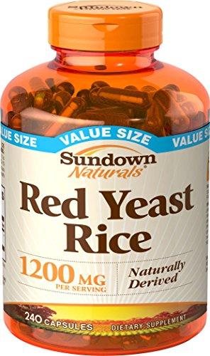 Sundown Naturals Red Yeast Rice 1200 mg, 240 Capsules