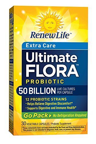 Renew Life Ultimate Flora Extra Care Probiotic Go Pack 50 Billion (Formerly RTS Critical Care), 30 Count (Ultimate Pack compare prices)