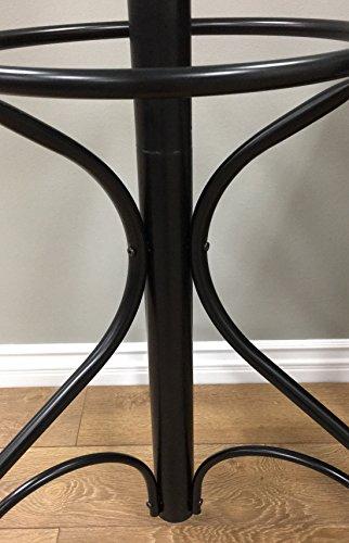 Frenchi Home Furnishing Metal Coat Rack with Umbrella Stand, Black 4