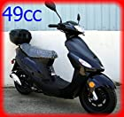 Renegade TPGS-805 BLACK Gas 49cc Moped Scooter w/ Rear Mounted Storage Trunk