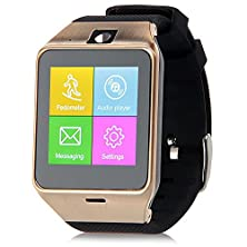 """buy Liyux Aplus Gv18 Bluetooth Smart Watch Phone 1.55"""" Gsm Nfc Camera Wrist Watch Sim Card Android Watch For Iphone Samsung Htc Huawei Android Phone Value Watch (Gold)"""
