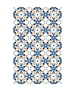 Huella deco Felpudo de Vinilo (Azul/Multicolor)