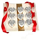 Valentine Gifts - Ghasitaram Gifts Heart Shape Kaju Katli (400 Gms)