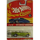 Hot Wheels Classics Series 2 #1 Of 39 1970 Chevelle Convertible 1:64 Scale Antifreeze Green
