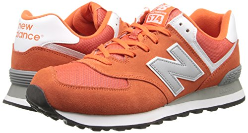 888546369627 - New Balance Men's ML574 Picnic Pack Collection Classic Running Shoe, Orange/Silver, 7 D US carousel main 5