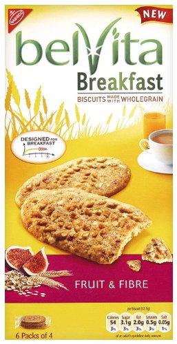 Belvita Breakfast Fruit and Fibre Biscuit 300 g (Pack of 10)