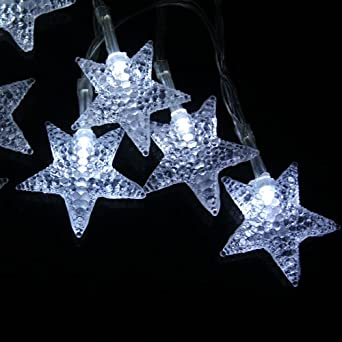 Innoo Tech 40 LED Star Fairy Light String Battery Powered for Indoor Outdoor Christmas, Partys ...
