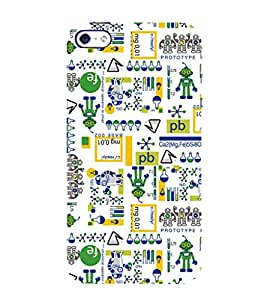 99Sublimation Modern Design Pattern Chemistry and Science 3D Hard Polycarbonate Back Case Cover for Apple iPhone 5