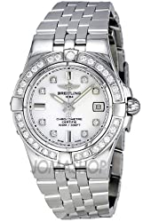 Breitling Women's A71340LA/A713SS Galactic 30 White Dial Watch