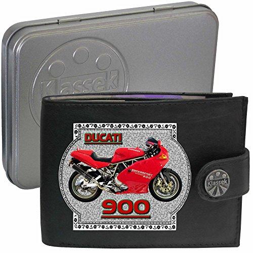 ducati-900-motocicletta-accessorio-moto-klassek-portafoglio-uomo-borsa-da-vera-pelle-nera