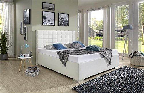 Breckle Polsterbett, Bett 200 x 200 cm Baxter Bavaria 38 cm Höhe Stärke 6 cm Bundig Textil braun