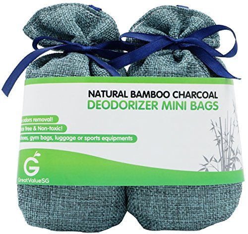 BUY MORE SAVE MORE Great Value SG Bamboo Charcoal Deodorizer Mini Bags, Best Air Purifiers for Smokers & Allergies, Perfect Air Fresheners for Shoes, Gym Bag, Locker & Small Space (Blue) (Dehumidifier For Drawers compare prices)