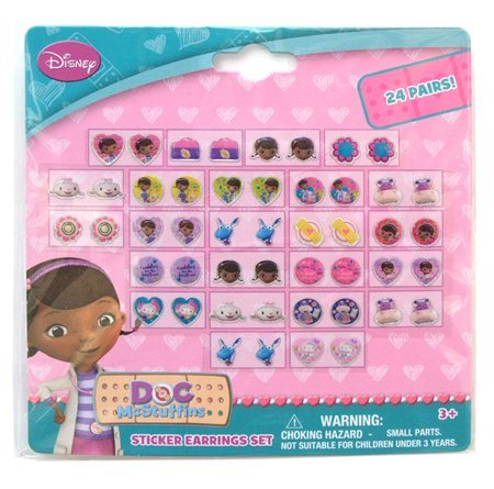 Disney Doc McStuffins 24 Pair Sticker Earrings