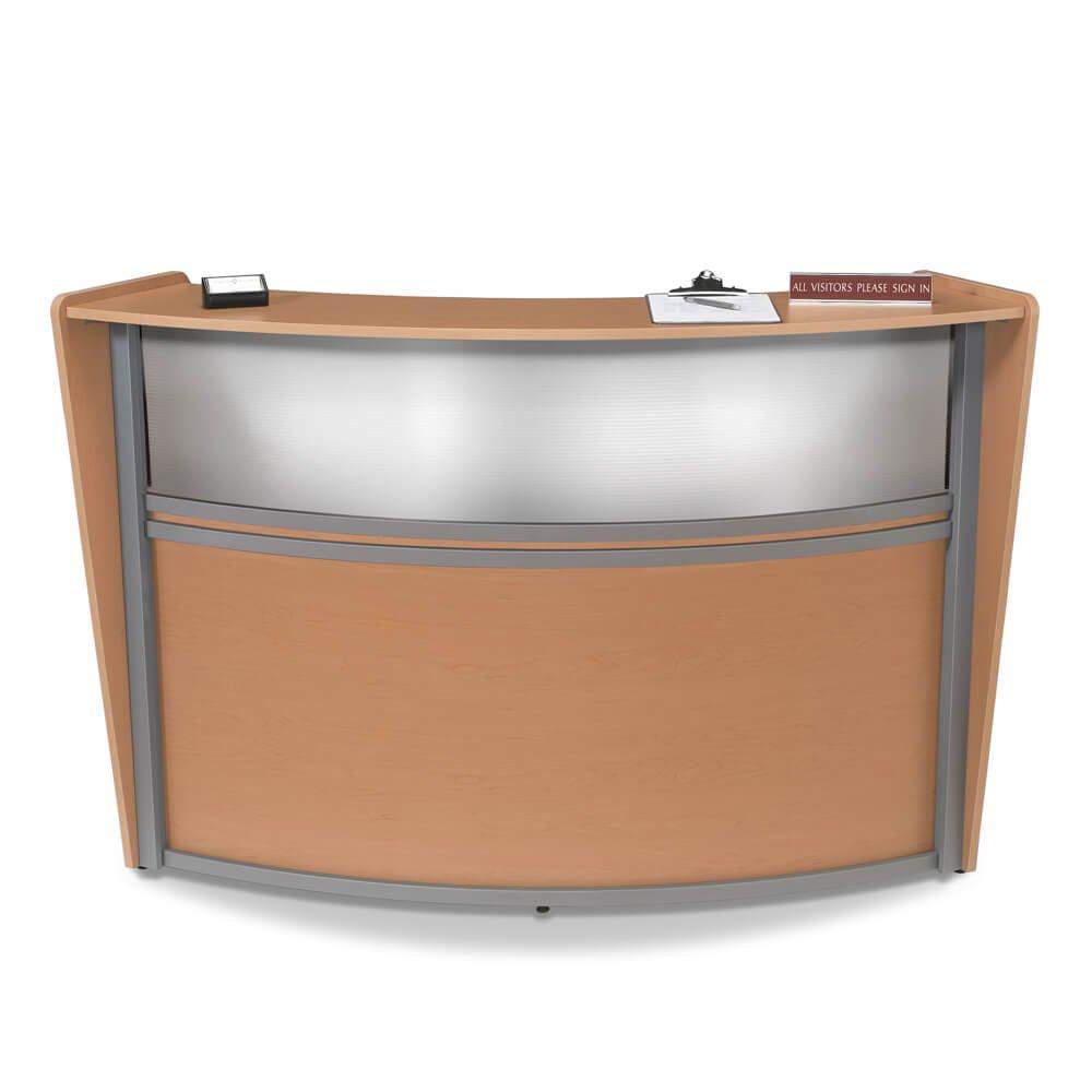 Office Reception Desk - Receive Small Curved Reception Desk