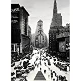 51B2cw3v1gL. SL160  Times Square New York City Vintage Black and White, Photography Poster Print, 24 by 36 Inch