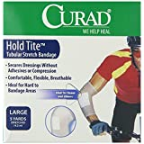 Curad Hold Tite Tubular Stretch Bandage Large Dressing (5 Yards) - Pack of 4
