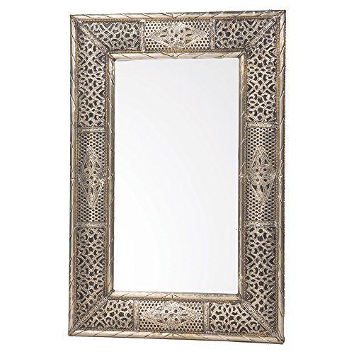 Handmade Moroccan Metalwork Mirror 24 inches