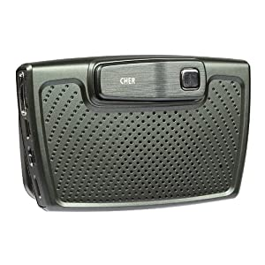 Cher CHER F1 In-car Solar-Powered Bluetooth 4.0 Hands-Free Car Kit,Built-in Speaker(for hands-free convenience) & R