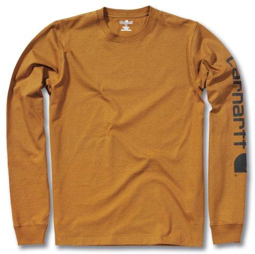 Carhartt T-Shirt Longssleeve Logo, Farbe:carhartt® brown;Größe:L