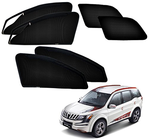Autopearl – Premium Quality Zipper Magnetic Sun Shades Car Curtain For – Mahindra Xuv 500 – Set Of 6 Pcs