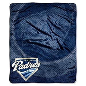 MLB San Diego Padres Raschel Plush Throw Blanket, Retro Design by Northwest