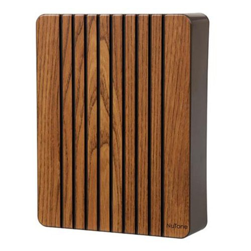 Nutone La120K Decorative Wired Two-Note Door Chime, Oak Finish front-595174