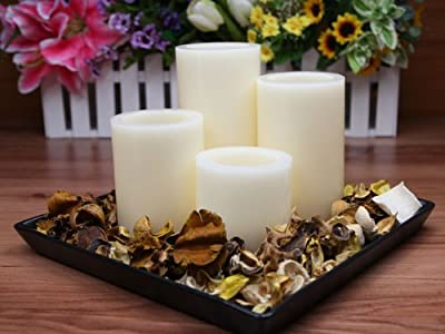 Flameless Real NORMAL WAX Candle Set