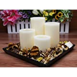 Flameless Candles; Led Candles With Remote Control, Pillar Real Wax Candles, 3 Inch, 4 Inch, 5 Inch And 6 Inch...