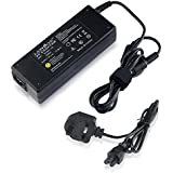 TOSHIBA PA-1750-08 PA3469E-1AC3 LAPTOP CHARGER AC ADAPTER 15V 5A 75W MAINS BATTERY POWER SUPPLY UNIT INCLUDES POWER CORD C5 CABLE MAINS CLOVER LEAF 3 PRONG UK PLUG LEAD