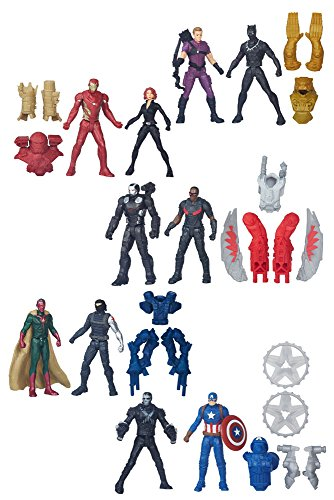 Avengers Miniverse Action Figures 6 cm 2-Packs 2016 Wave 1 Assortment (8) Hasbro Marvel Comics