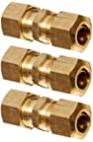 Dorman 800-142 Steel to Steel Fuel Line Compression Union - 5/16 In., Pack of 3