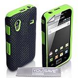 """Yousave Accessories TM Samsung Galaxy Ace S5830 Gr�n Masche Zwei Teil Silikon H�lle Tasche Mit Displayschutzvon """"Yousave"""""""