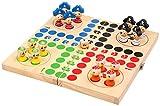 Pino 24x 24x 3,3cm Piratas de Ludo Game (Multicolor)