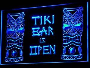 Enseigne Lumineuse i573-b Tiki Bar is OPEN Mask Display NR Neon Light Sign