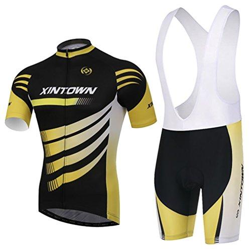 wylang-unisex-sportivo-asciugatura-veloce-confortevole-maglia-manica-corta-pantaloncini-imbottiti-co