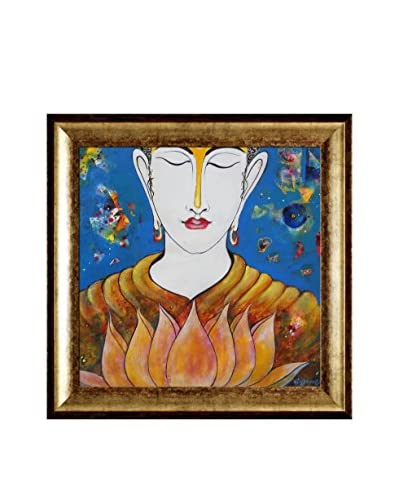 Sanjay Punekar Buddha Framed Canvas Print