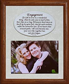 buy 8X10 Engagement ~ Photo & Poetry Frame ~ Holds A Landscape 5X7 Picture ~ Engagement Gift