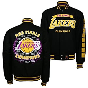 Los Angeles Lakers J.H. Design NBA Commemorative Jacket (Gold) by J.H. Design