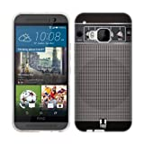 Head Case Designs Grey Distortion Guitar Amp Soft Gel Back Case Cover for HTC One M9