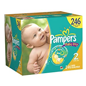Amazon Com Pampers Baby Dry Diapers Size 2 Economy Pack