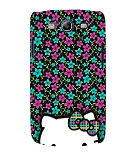Floral Doll Design 3D Hard Polycarbonate Designer Back Case Cover for Samsung Galaxy S3 Neo :: Samsung Galaxy S3 Neo i9300i