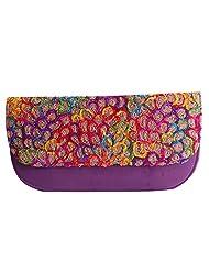 Womaniya PU Purple Handbag For Women(Size-28 Cm X 15 Cm X 3 Cm)