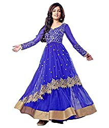 HARI-PACKAGING-Blue-Net-Unstitched-Dress Material